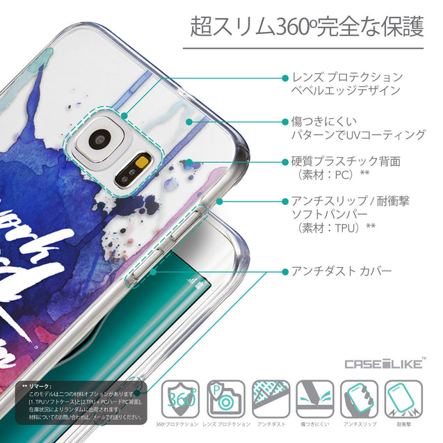 Details in Japanese - CASEiLIKE Samsung Galaxy S6 Edge Plus back cover Quote 2422