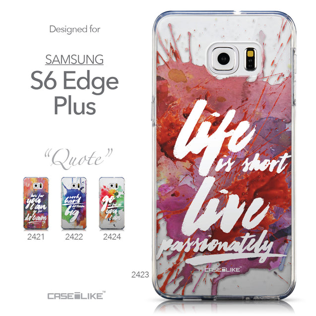 Collection - CASEiLIKE Samsung Galaxy S6 Edge Plus back cover Quote 2423