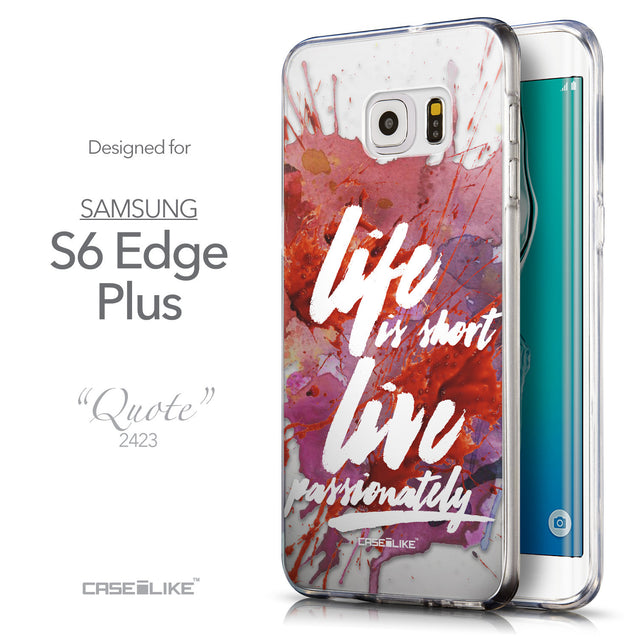 Front & Side View - CASEiLIKE Samsung Galaxy S6 Edge Plus back cover Quote 2423
