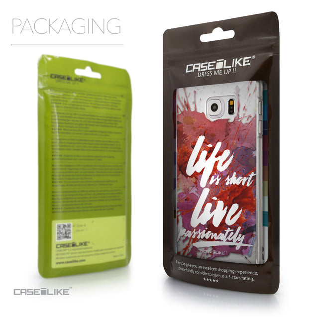 Packaging - CASEiLIKE Samsung Galaxy S6 Edge Plus back cover Quote 2423