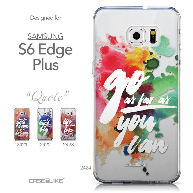 Collection - CASEiLIKE Samsung Galaxy S6 Edge Plus back cover Quote 2424