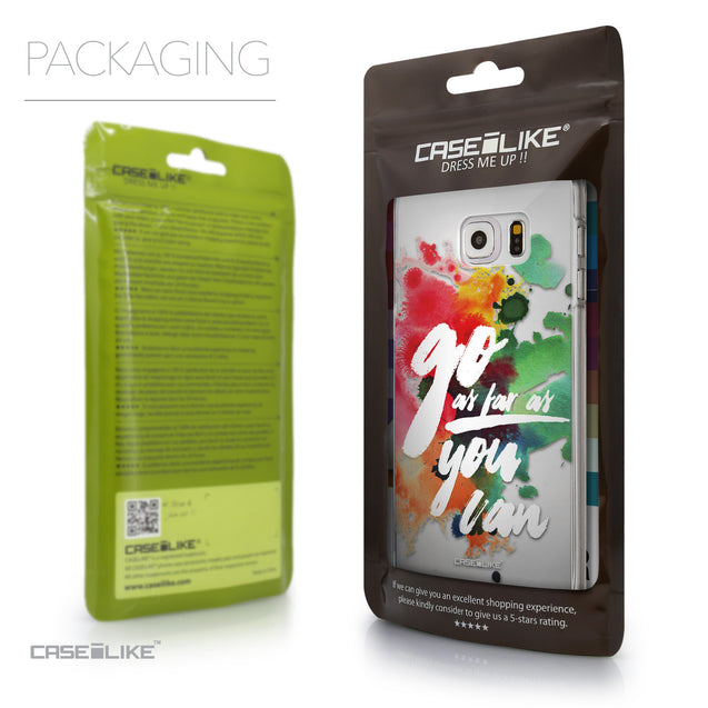 Packaging - CASEiLIKE Samsung Galaxy S6 Edge Plus back cover Quote 2424