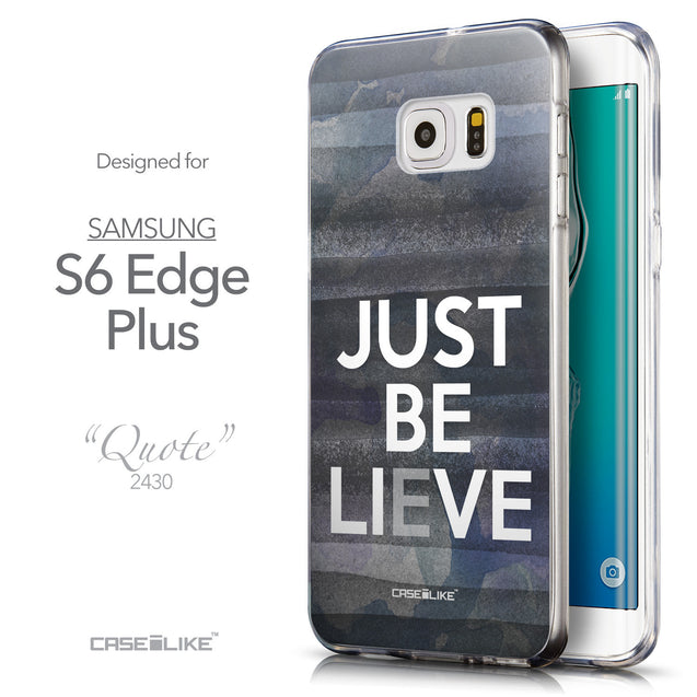 Front & Side View - CASEiLIKE Samsung Galaxy S6 Edge Plus back cover Quote 2430