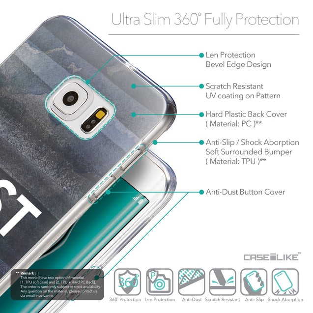 Details in English - CASEiLIKE Samsung Galaxy S6 Edge Plus back cover Quote 2430