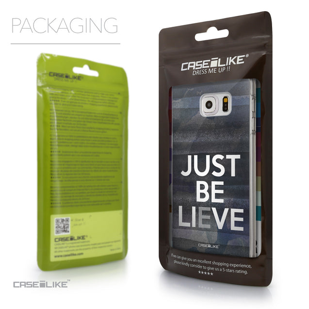 Packaging - CASEiLIKE Samsung Galaxy S6 Edge Plus back cover Quote 2430