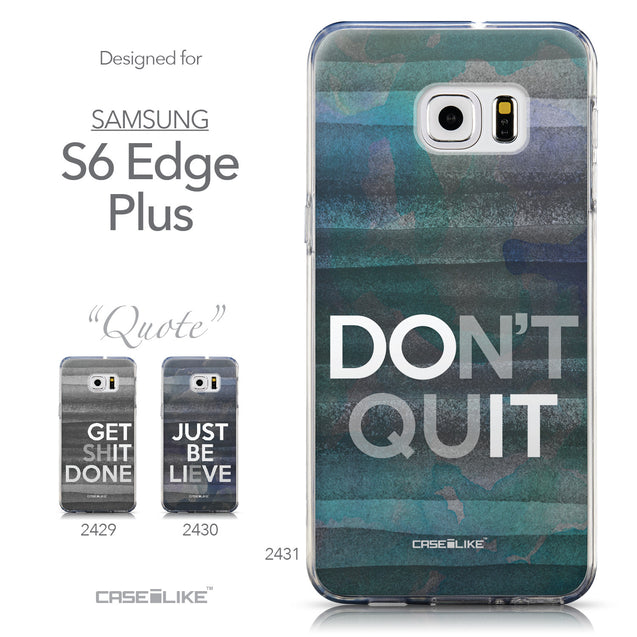 Collection - CASEiLIKE Samsung Galaxy S6 Edge Plus back cover Quote 2431