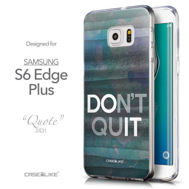 Front & Side View - CASEiLIKE Samsung Galaxy S6 Edge Plus back cover Quote 2431