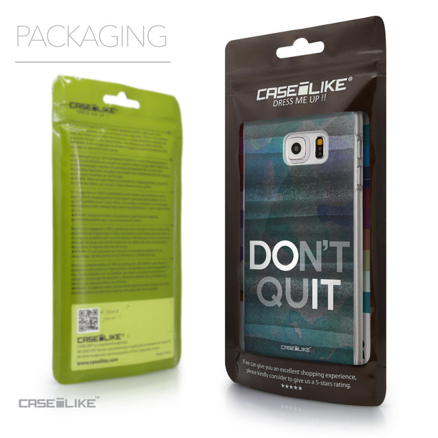 Packaging - CASEiLIKE Samsung Galaxy S6 Edge Plus back cover Quote 2431
