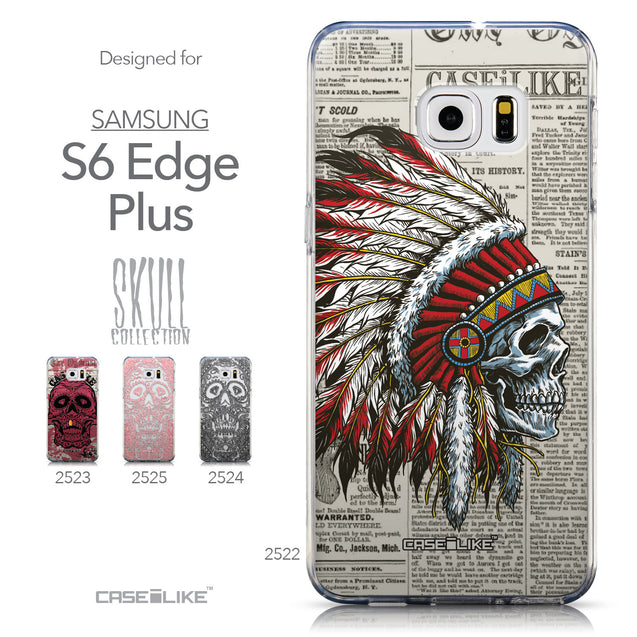 Collection - CASEiLIKE Samsung Galaxy S6 Edge Plus back cover Art of Skull 2522
