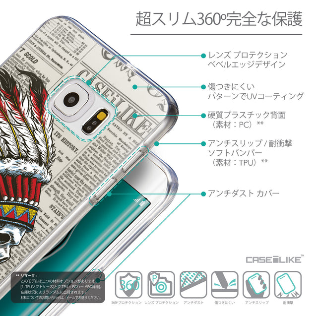 Details in Japanese - CASEiLIKE Samsung Galaxy S6 Edge Plus back cover Art of Skull 2522