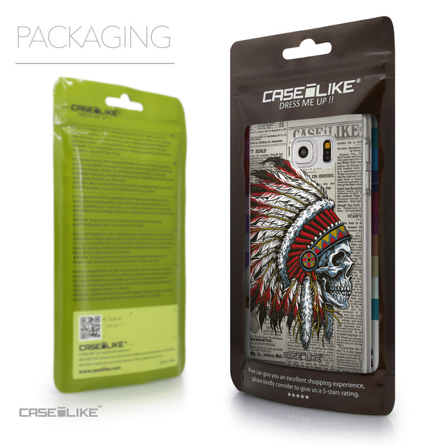 Packaging - CASEiLIKE Samsung Galaxy S6 Edge Plus back cover Art of Skull 2522