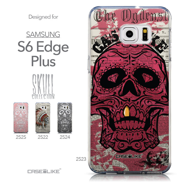 Collection - CASEiLIKE Samsung Galaxy S6 Edge Plus back cover Art of Skull 2523