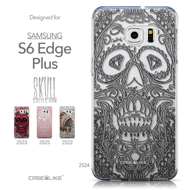 Collection - CASEiLIKE Samsung Galaxy S6 Edge Plus back cover Art of Skull 2524