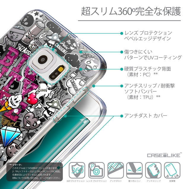 Details in Japanese - CASEiLIKE Samsung Galaxy S6 Edge Plus back cover Graffiti 2704
