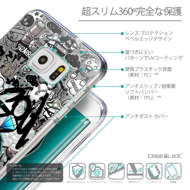 Details in Japanese - CASEiLIKE Samsung Galaxy S6 Edge Plus back cover Graffiti 2706