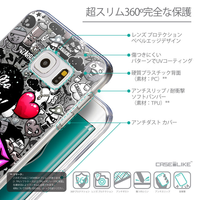 Details in Japanese - CASEiLIKE Samsung Galaxy S6 Edge Plus back cover Graffiti 2708