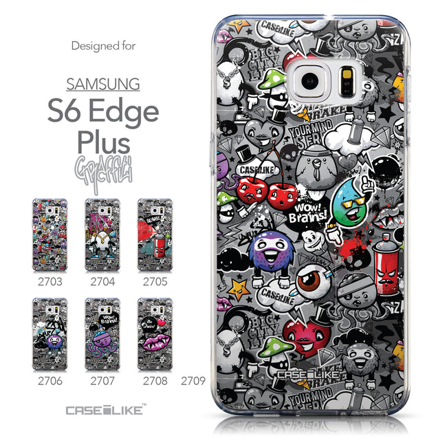Collection - CASEiLIKE Samsung Galaxy S6 Edge Plus back cover Graffiti 2709