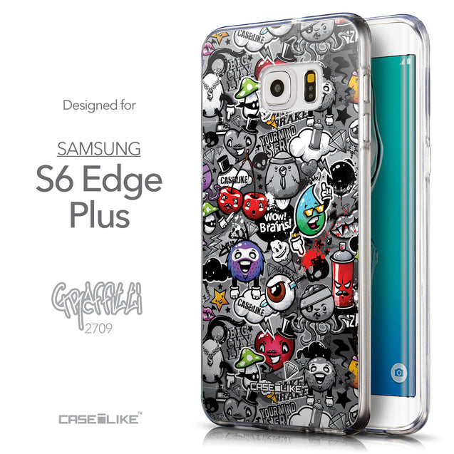 Front & Side View - CASEiLIKE Samsung Galaxy S6 Edge Plus back cover Graffiti 2709