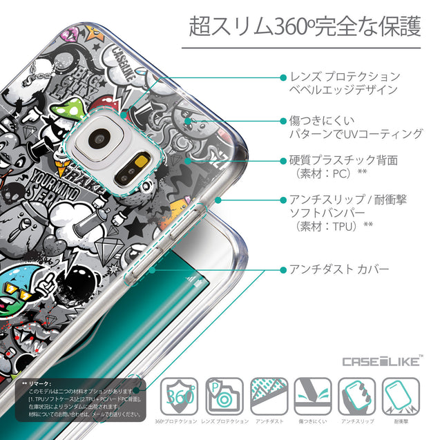 Details in Japanese - CASEiLIKE Samsung Galaxy S6 Edge Plus back cover Graffiti 2709