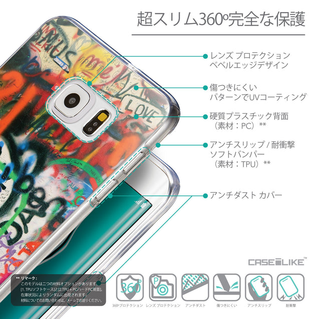 Details in Japanese - CASEiLIKE Samsung Galaxy S6 Edge Plus back cover Graffiti 2721