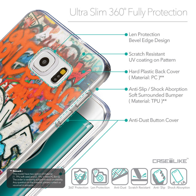Details in English - CASEiLIKE Samsung Galaxy S6 Edge Plus back cover Graffiti 2722