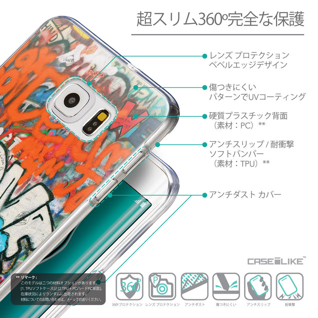 Details in Japanese - CASEiLIKE Samsung Galaxy S6 Edge Plus back cover Graffiti 2722