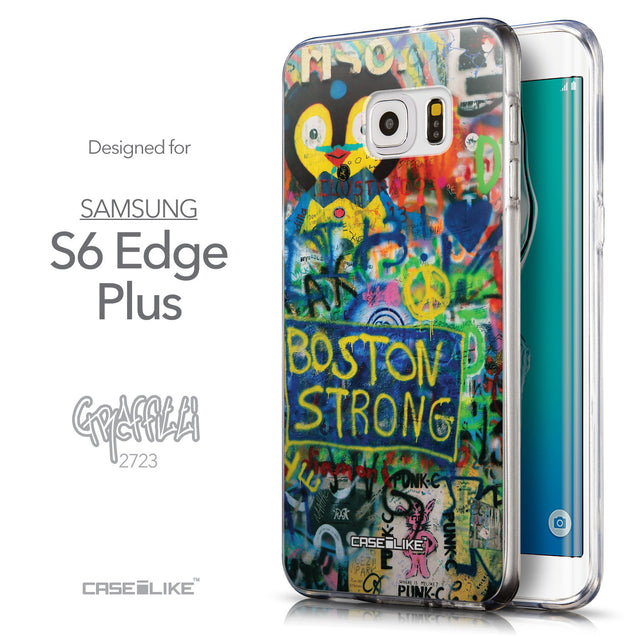 Front & Side View - CASEiLIKE Samsung Galaxy S6 Edge Plus back cover Graffiti 2723