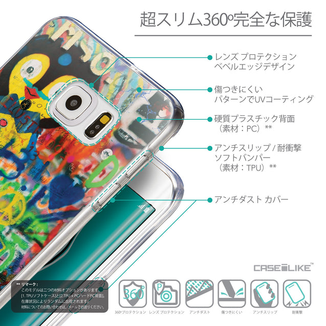 Details in Japanese - CASEiLIKE Samsung Galaxy S6 Edge Plus back cover Graffiti 2723