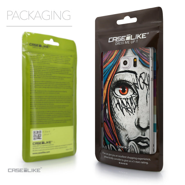 Packaging - CASEiLIKE Samsung Galaxy S6 Edge Plus back cover Graffiti Girl 2724