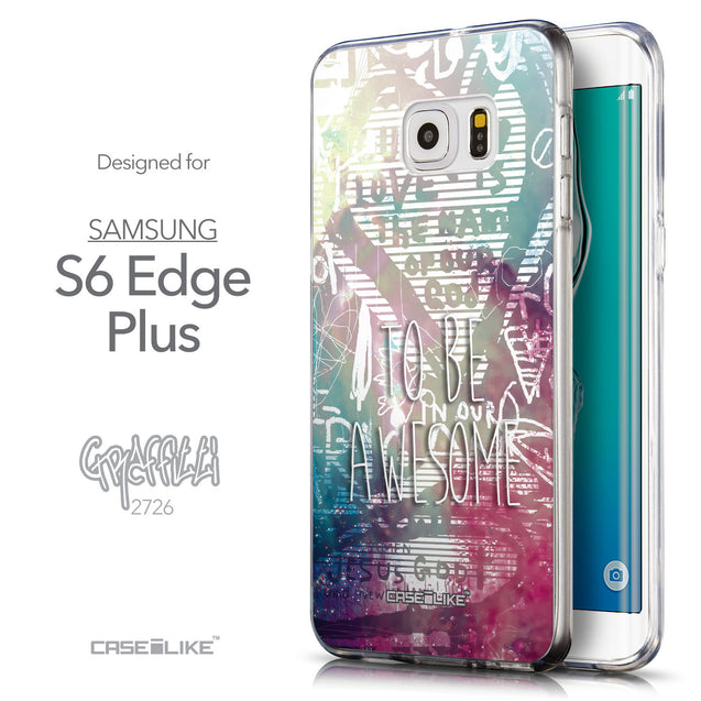 Front & Side View - CASEiLIKE Samsung Galaxy S6 Edge Plus back cover Graffiti 2726
