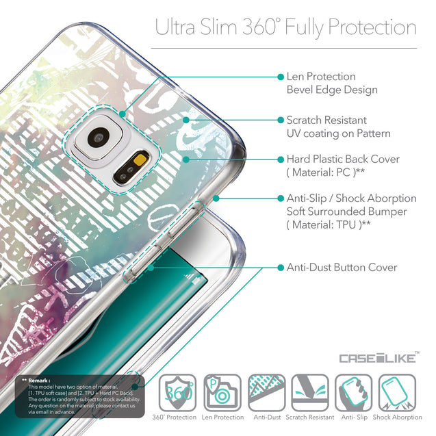 Details in English - CASEiLIKE Samsung Galaxy S6 Edge Plus back cover Graffiti 2726
