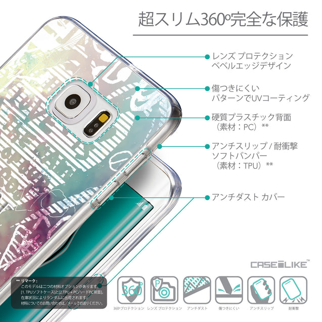 Details in Japanese - CASEiLIKE Samsung Galaxy S6 Edge Plus back cover Graffiti 2726