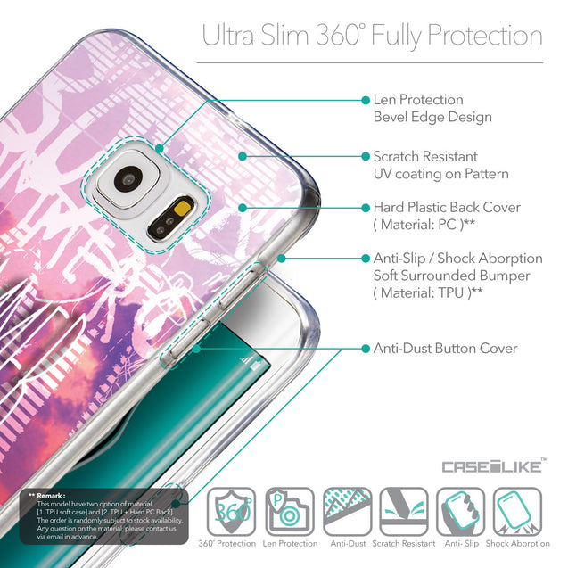 Details in English - CASEiLIKE Samsung Galaxy S6 Edge Plus back cover Graffiti 2727