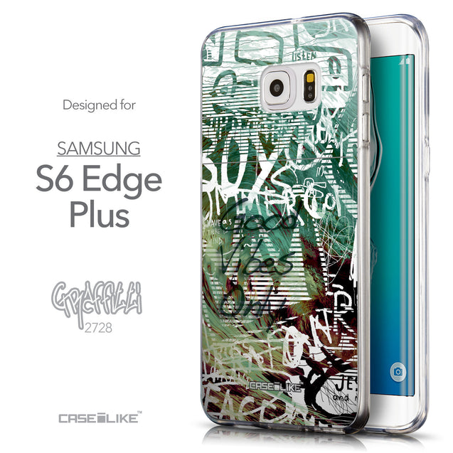 Front & Side View - CASEiLIKE Samsung Galaxy S6 Edge Plus back cover Graffiti 2728