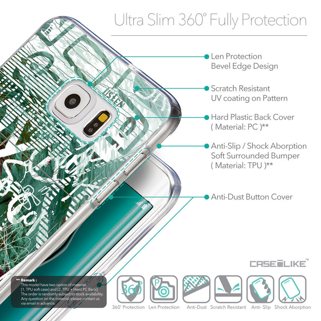 Details in English - CASEiLIKE Samsung Galaxy S6 Edge Plus back cover Graffiti 2728