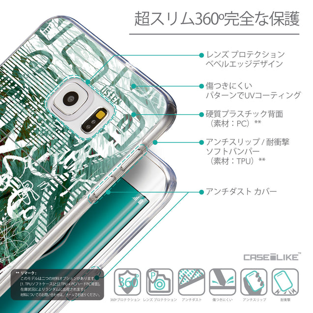 Details in Japanese - CASEiLIKE Samsung Galaxy S6 Edge Plus back cover Graffiti 2728