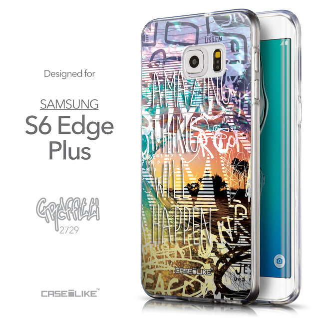 Front & Side View - CASEiLIKE Samsung Galaxy S6 Edge Plus back cover Graffiti 2729