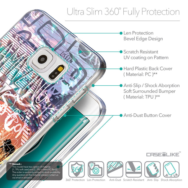 Details in English - CASEiLIKE Samsung Galaxy S6 Edge Plus back cover Graffiti 2729