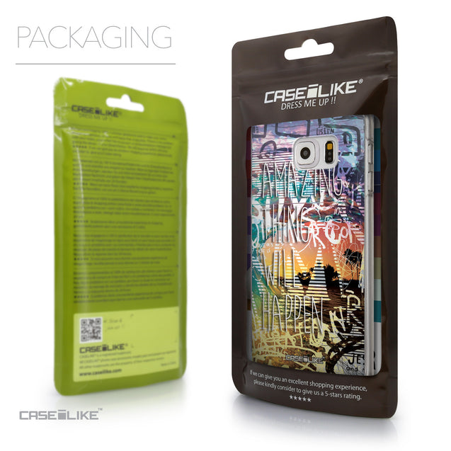 Packaging - CASEiLIKE Samsung Galaxy S6 Edge Plus back cover Graffiti 2729