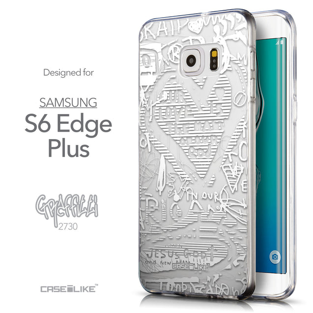 Front & Side View - CASEiLIKE Samsung Galaxy S6 Edge Plus back cover Graffiti 2730