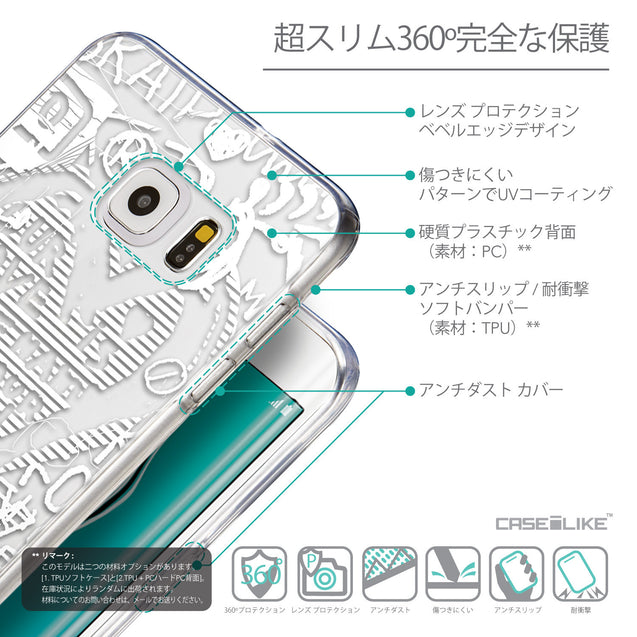 Details in Japanese - CASEiLIKE Samsung Galaxy S6 Edge Plus back cover Graffiti 2730