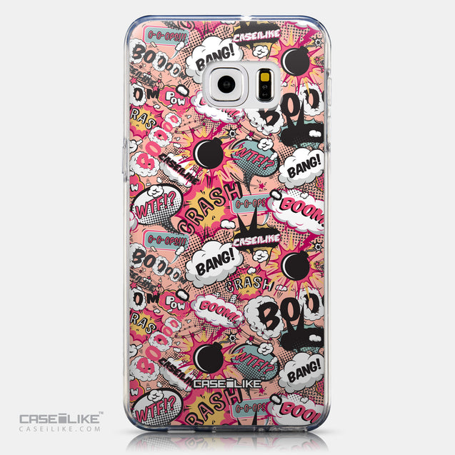 CASEiLIKE Samsung Galaxy S6 Edge Plus back cover Comic Captions Pink 2912