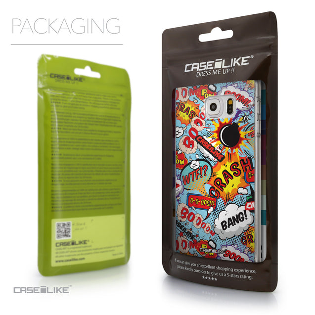 Packaging - CASEiLIKE Samsung Galaxy S6 Edge Plus back cover Comic Captions Blue 2913