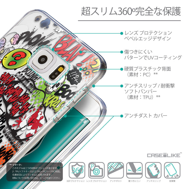 Details in Japanese - CASEiLIKE Samsung Galaxy S6 Edge Plus back cover Comic Captions 2914