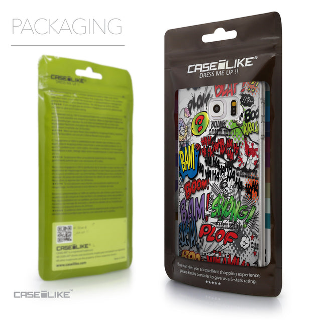 Packaging - CASEiLIKE Samsung Galaxy S6 Edge Plus back cover Comic Captions 2914