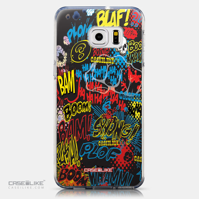 CASEiLIKE Samsung Galaxy S6 Edge Plus back cover Comic Captions Black 2915