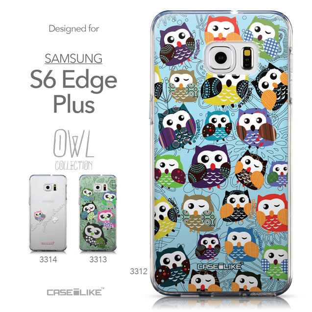 Collection - CASEiLIKE Samsung Galaxy S6 Edge Plus back cover Owl Graphic Design 3312