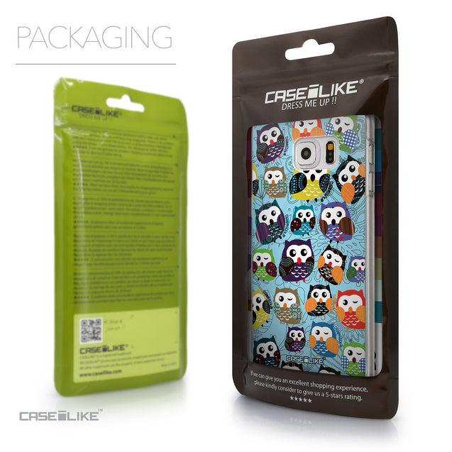 Packaging - CASEiLIKE Samsung Galaxy S6 Edge Plus back cover Owl Graphic Design 3312