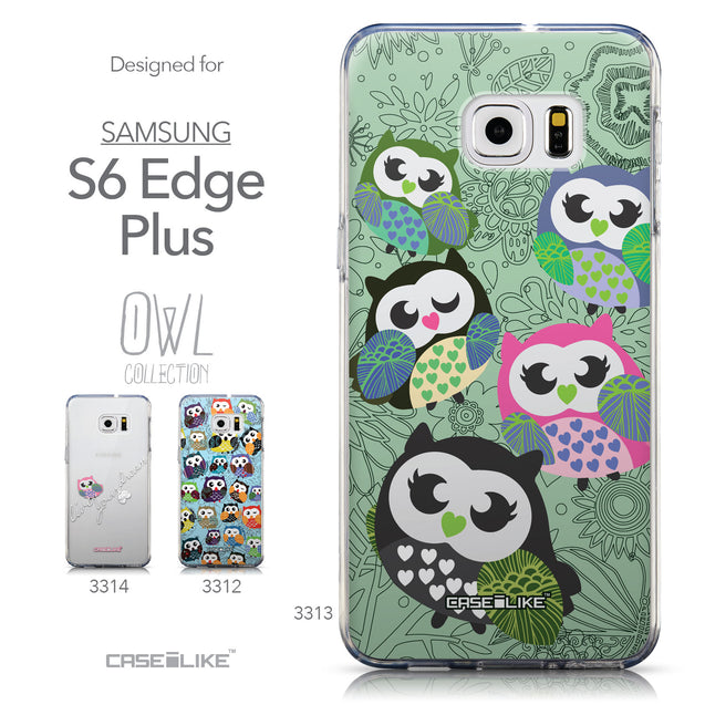 Collection - CASEiLIKE Samsung Galaxy S6 Edge Plus back cover Owl Graphic Design 3313