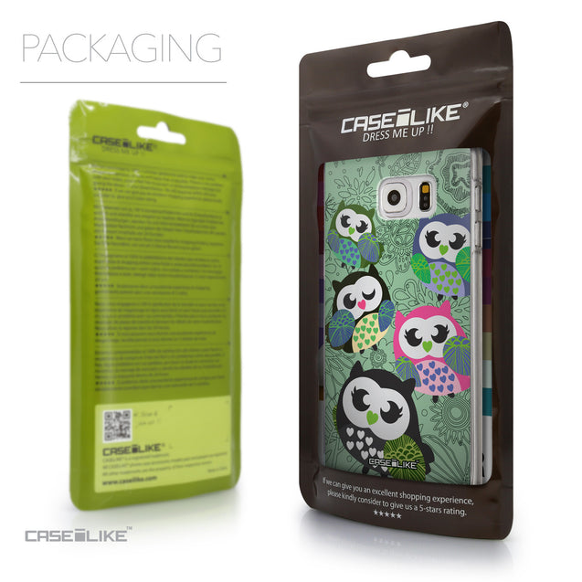 Packaging - CASEiLIKE Samsung Galaxy S6 Edge Plus back cover Owl Graphic Design 3313
